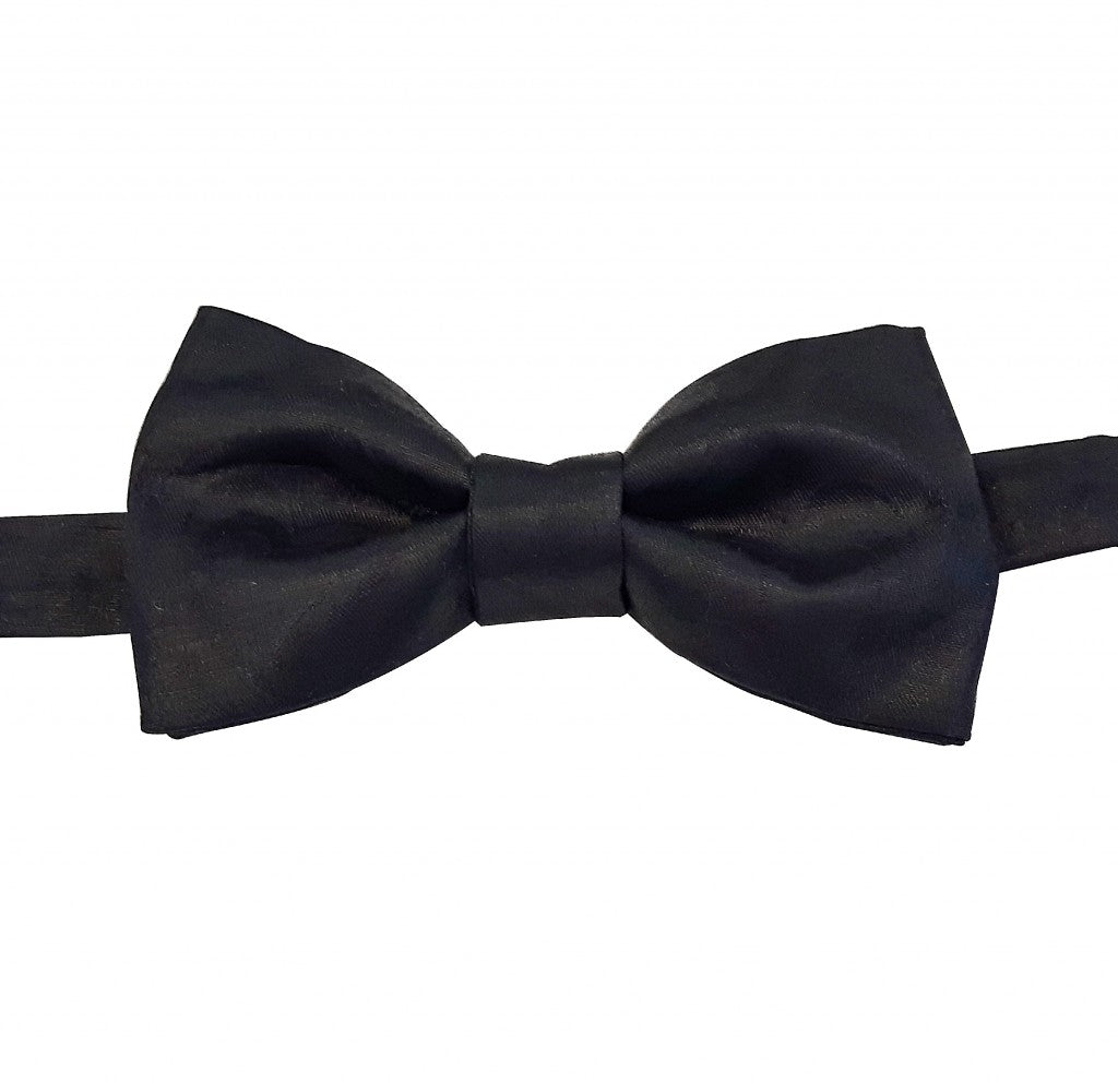 BLACK COTTON BOW TIE