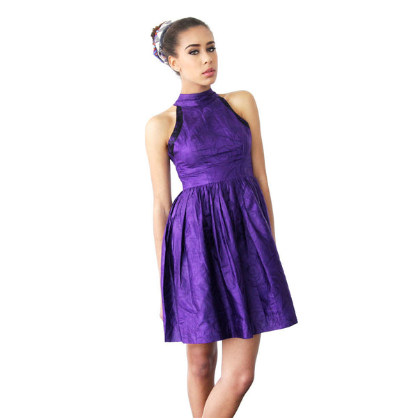TINA DRESS IN PURPLE