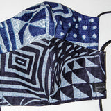 Set of 2 Reversible Face Masks - Bamileke prints