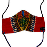 Carli Reversible Face Mask - Dashiki prints