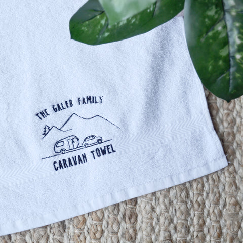 Embrodiered Caravan Towel