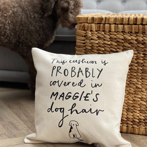 Personalised Dog Hair Cushion