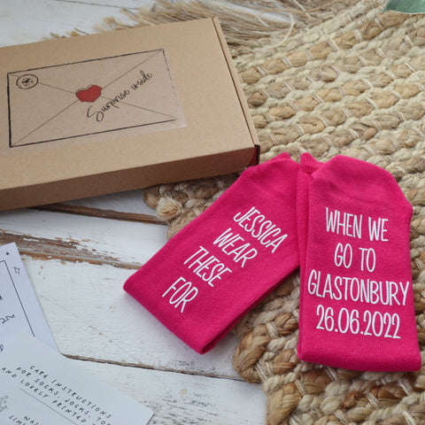 Personalised Surprise Socks Letterbox Gift