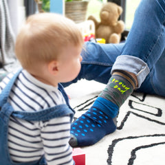 Proud Dad socks with Toddler