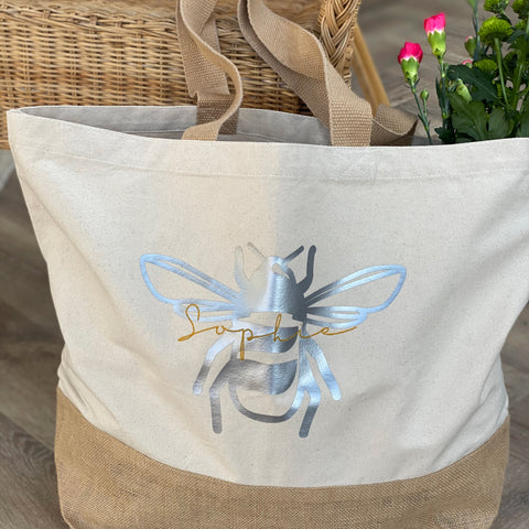 Personalised Name and Bee Bag
