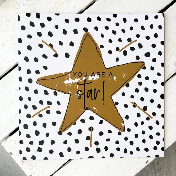 'You're a Star' Greetings Card with Socks, Card Socks, - ALPHS