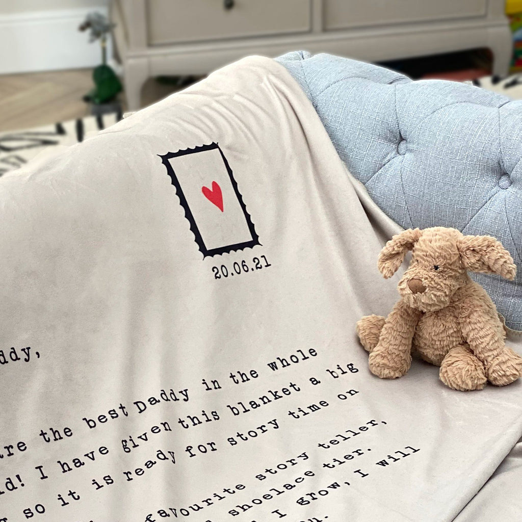 A Letter To Daddy Blanket