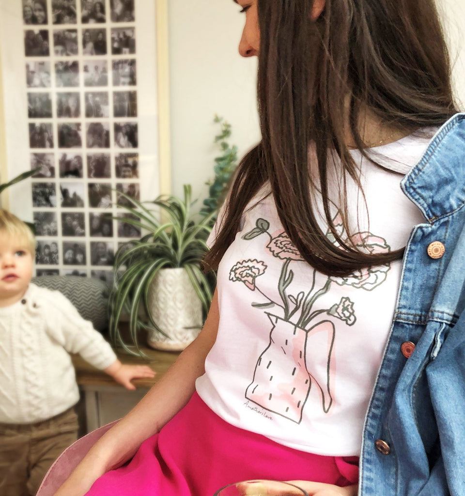 Personalised Mother's Love Floral T Shirt, t-shirt, - ALPHS