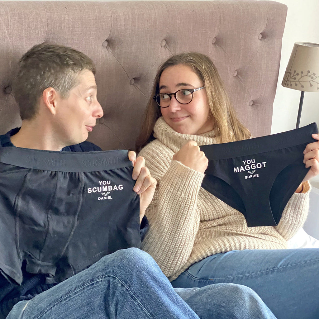 Personalised Anti Couple's Christmas Underwear