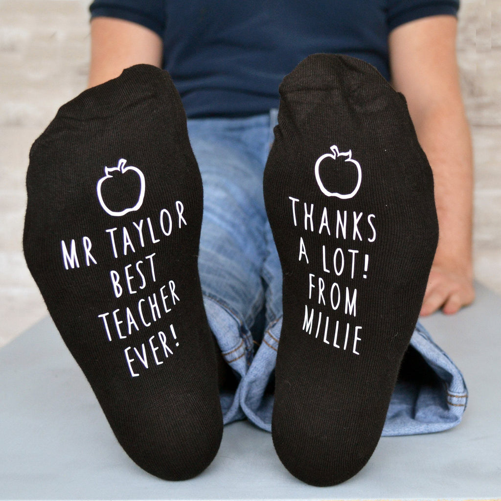 Best Teacher Apple Design Socks, socks, - ALPHS