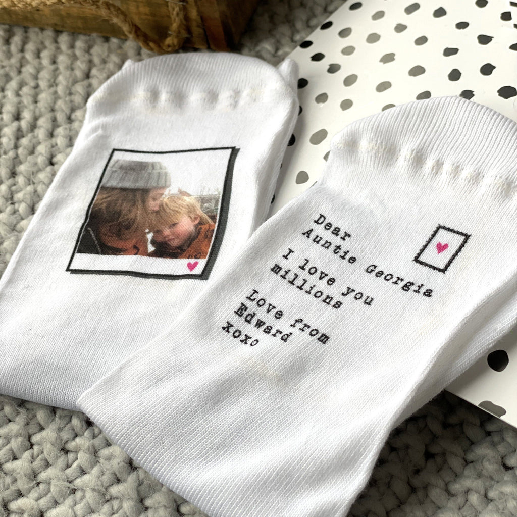 Auntie Love You Million Photo Socks