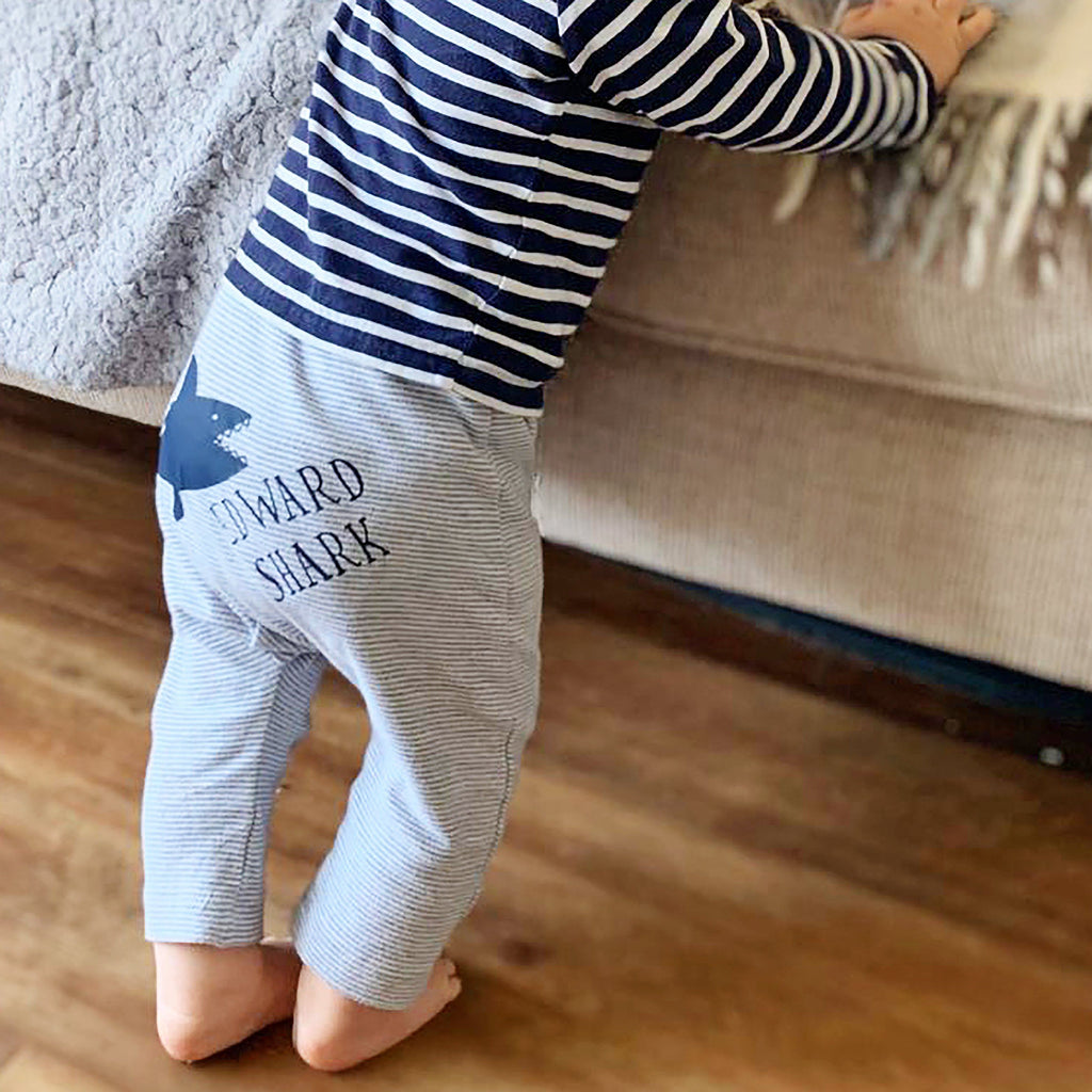 Personalised Baby Shark Organic Leggings, Clothing, - ALPHS