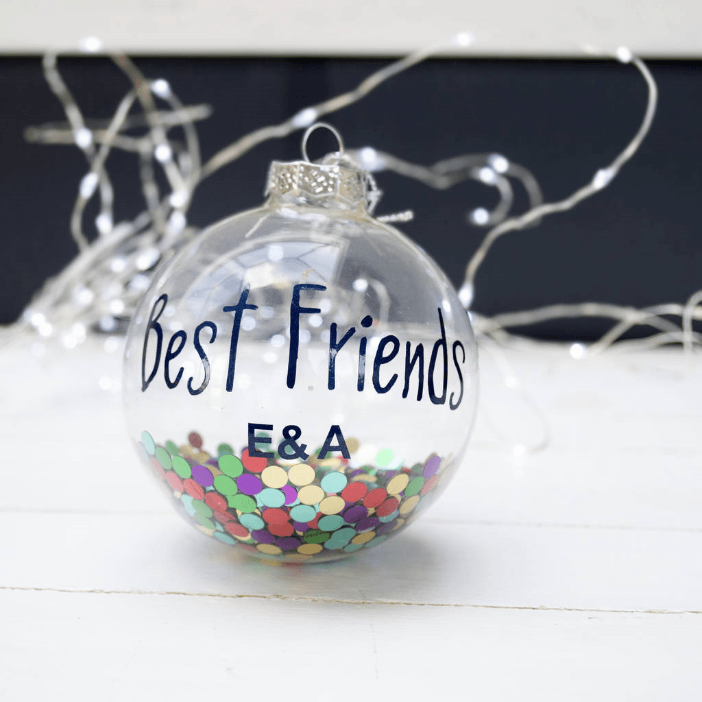 Personalised Disco Best Friends Bauble, Bauble, - ALPHS