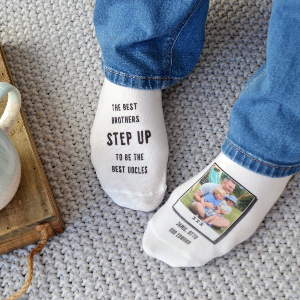 Best Brother Best Uncle Photo Socks