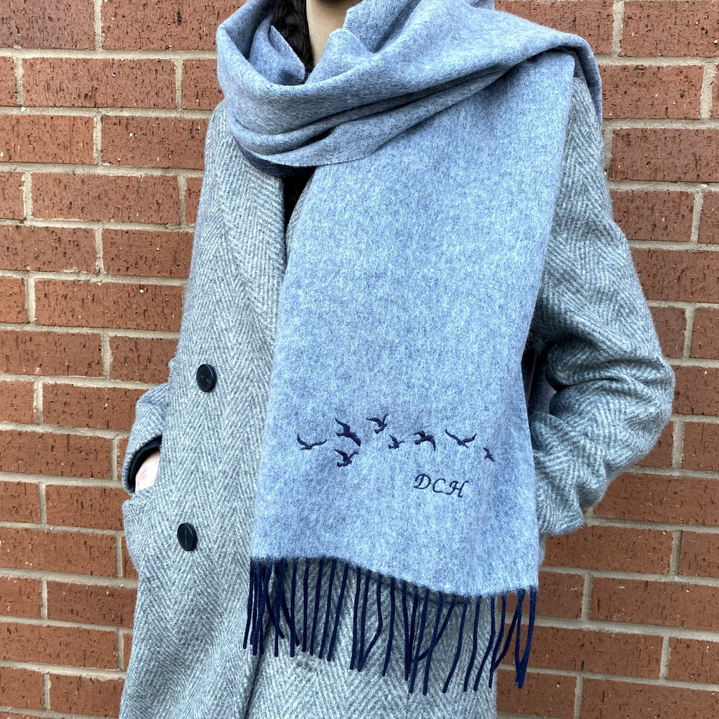 Personalised Cashmere Bird Scarf