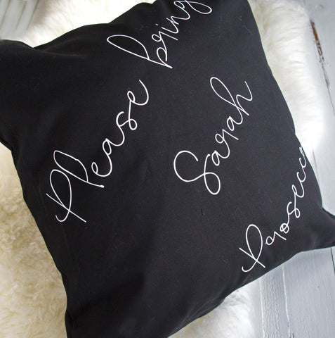 Personalise Bring Prosecco Cushion