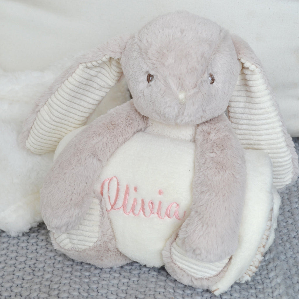 Personalised Bunny and Baby Blanket