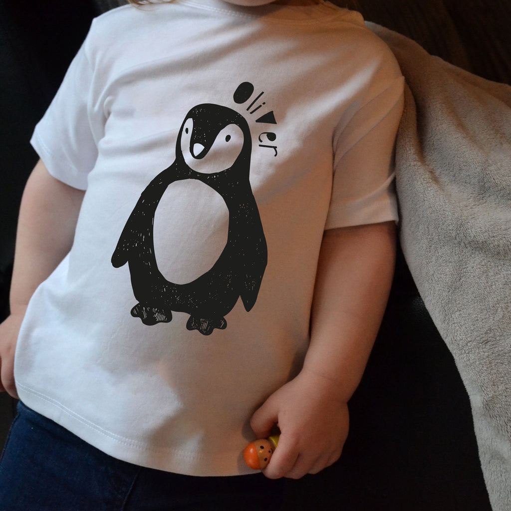 Children's Personalised Penguin T Shirt