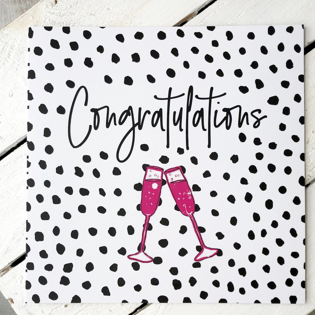 Congratulations Greetings Card with Women's Socks, Card Socks, - ALPHS