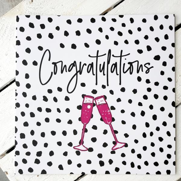 Congratulations Greetings Card with Socks, Card Socks, - ALPHS