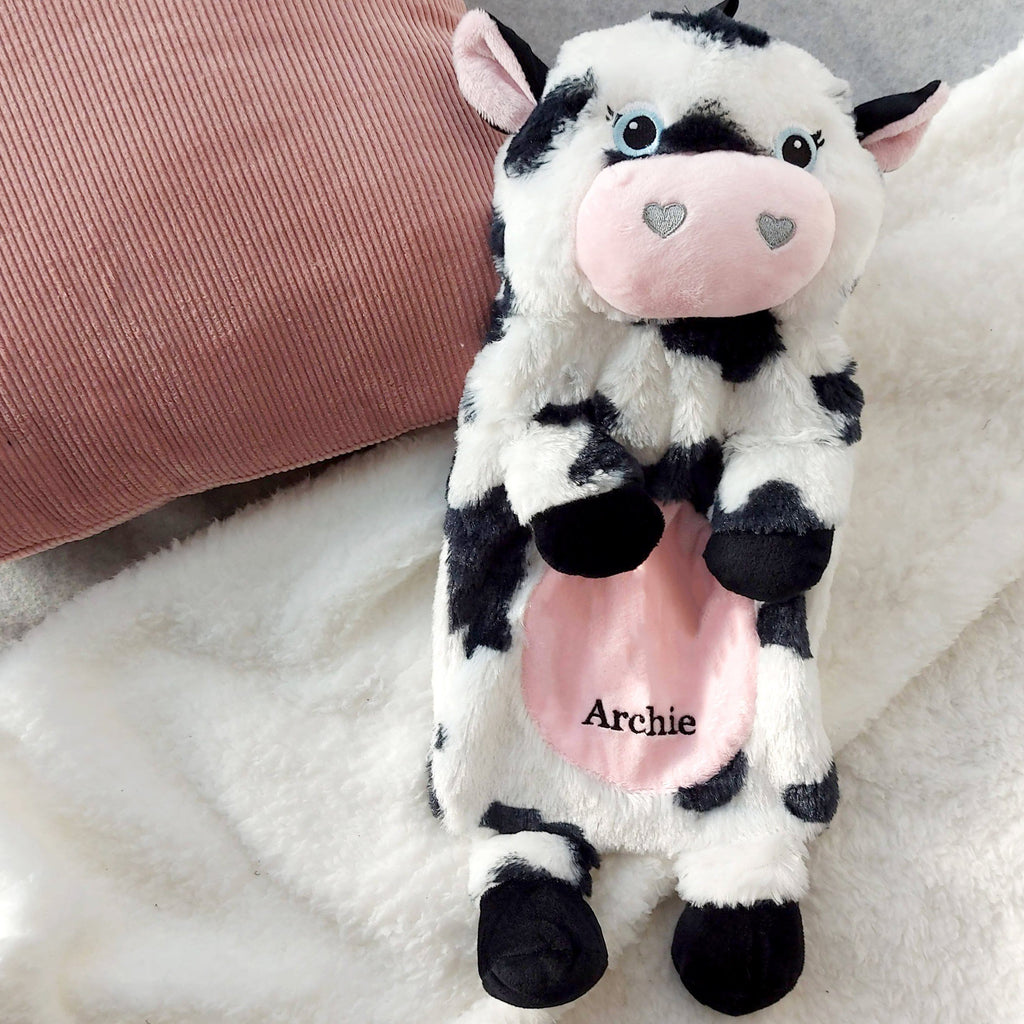 Personalised Cow Hot Water Bottle