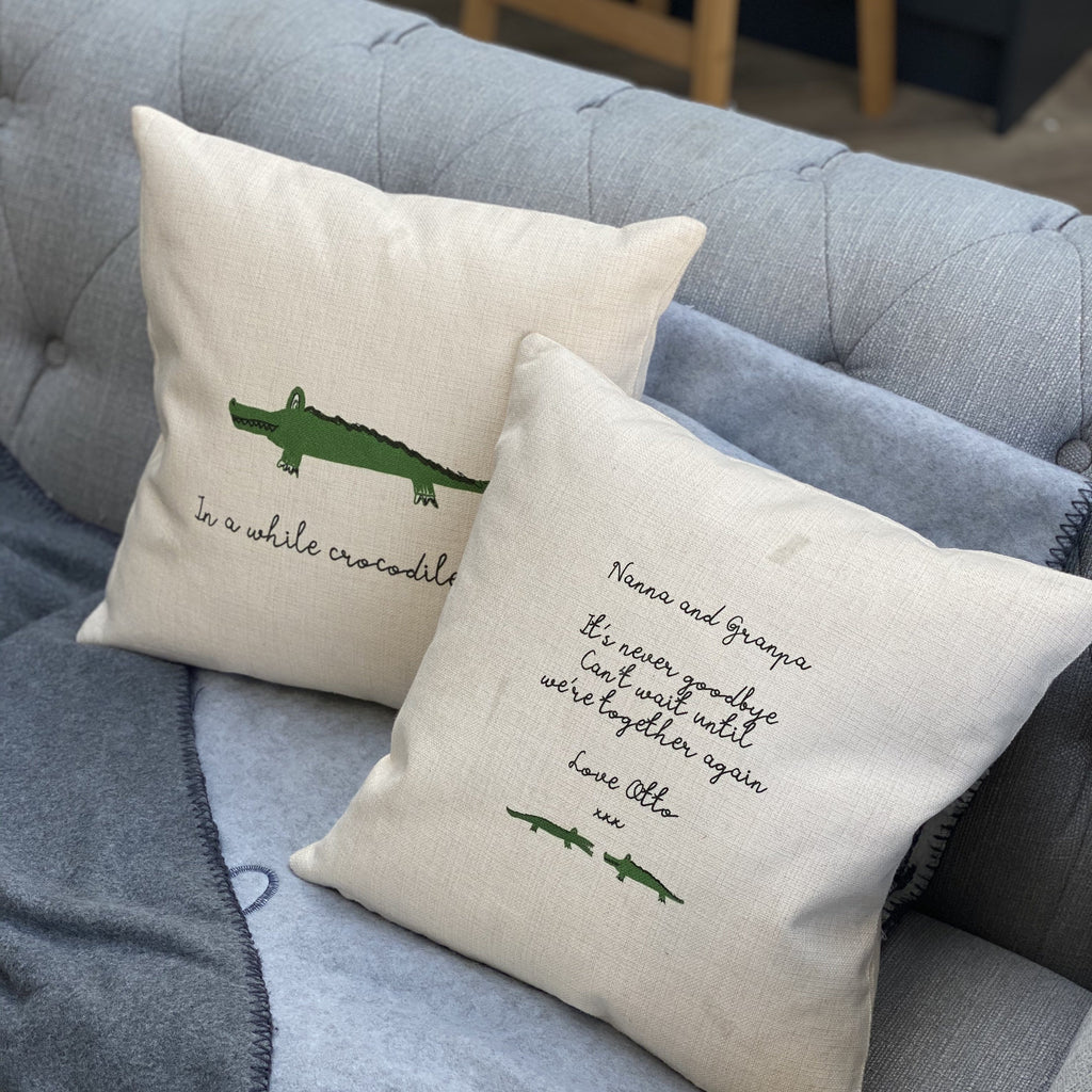 Hidden message set of two see you later alligator cushions, cushion, - ALPHS
