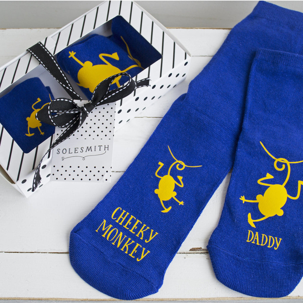 Gift Box - Daddy and Me Cheeky Monkeys, Socks, - ALPHS