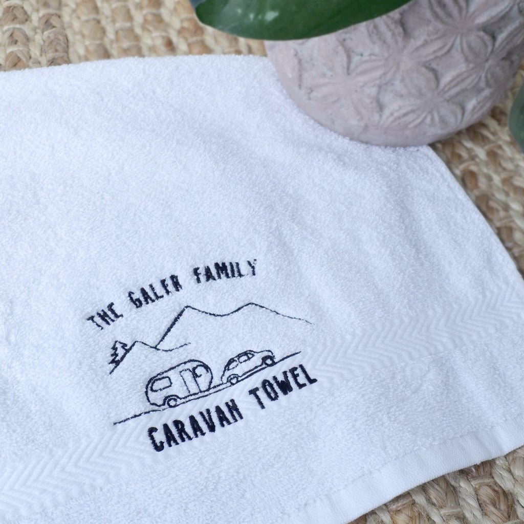 Embroidered Caravan Towel