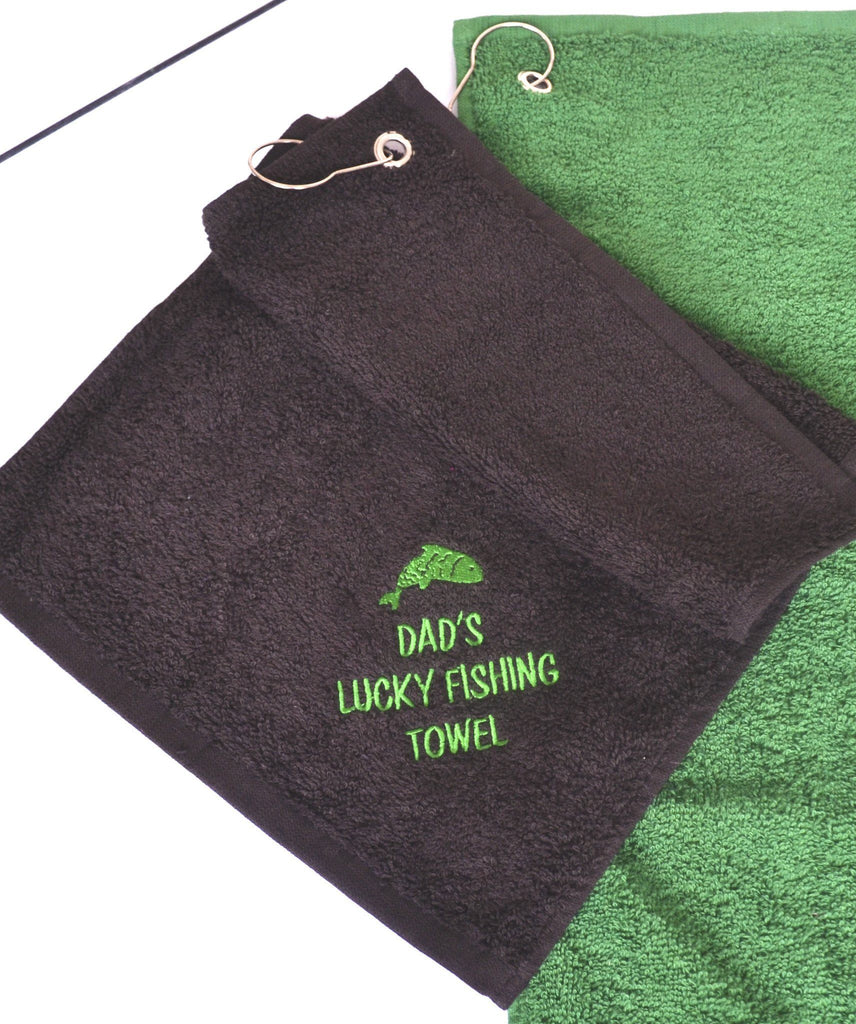 Personalised Lucky Fishing Towel, fishing towel, - ALPHS