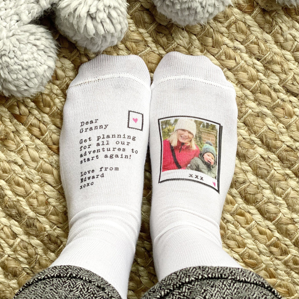 Granny And Me Adventure Photo Socks