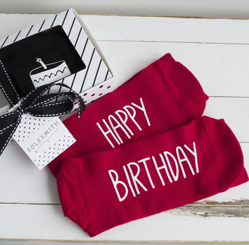 Gift Box - Birthday Socks!, Socks, - ALPHS