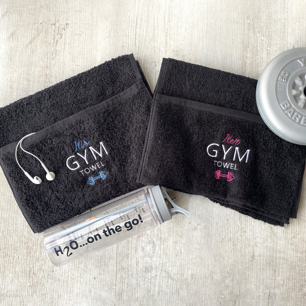 Valentine's His And Her Gym Towels