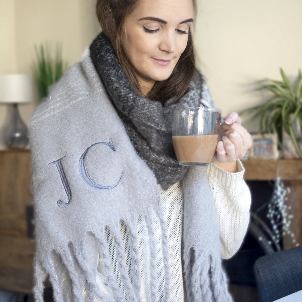 Super Chunky Monogrammed Winter Scarf