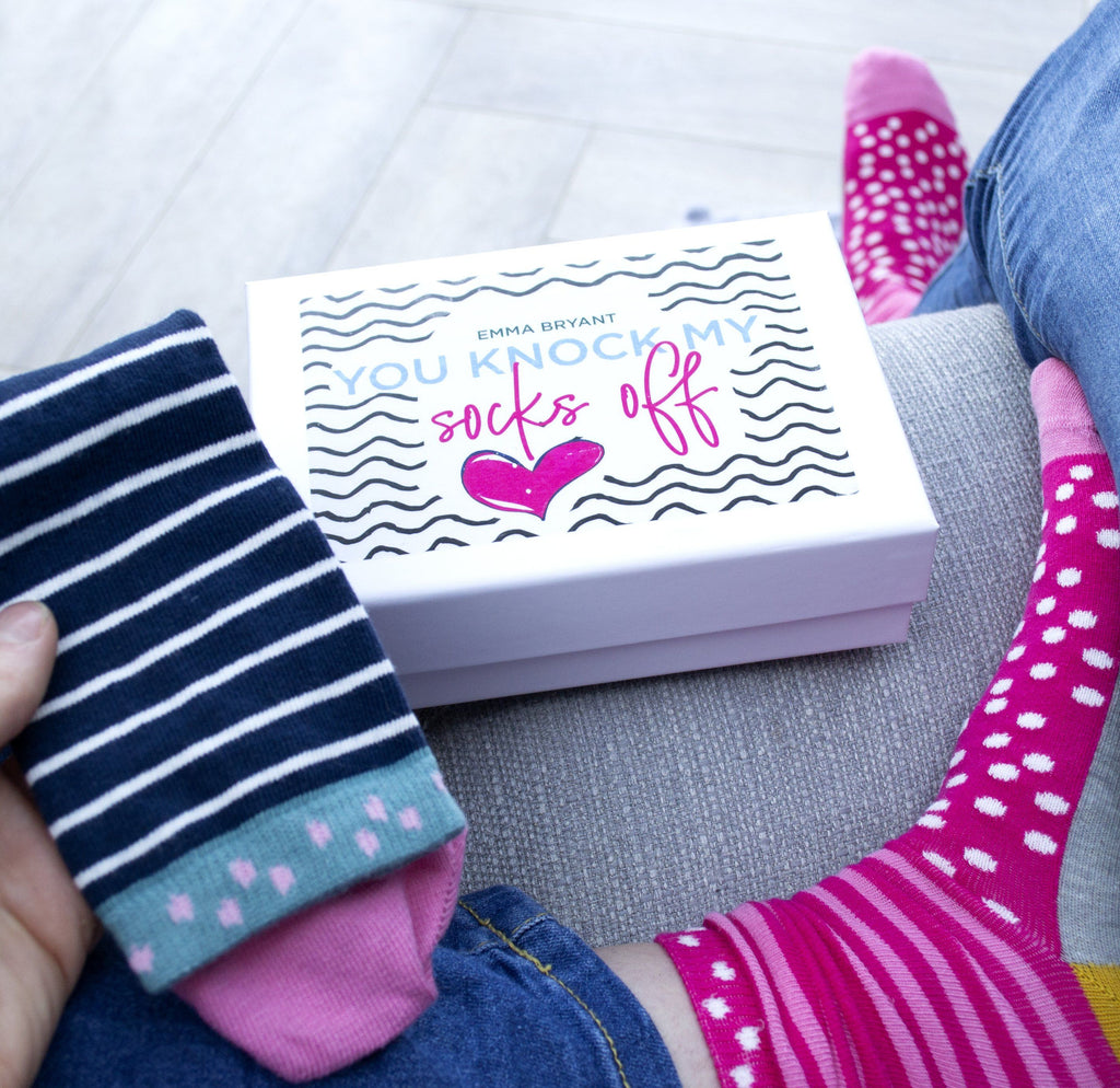 Personalised You Knock My Socks Off Sock Gift Box
