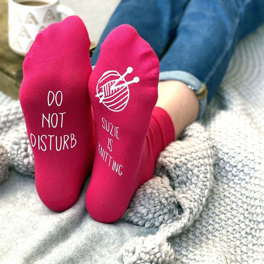 Do Not Disturb, Personalised Knitting Socks