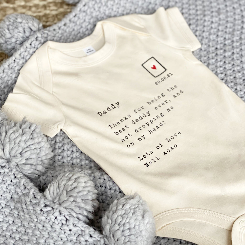 Letter to Daddy Personalised Babygrow