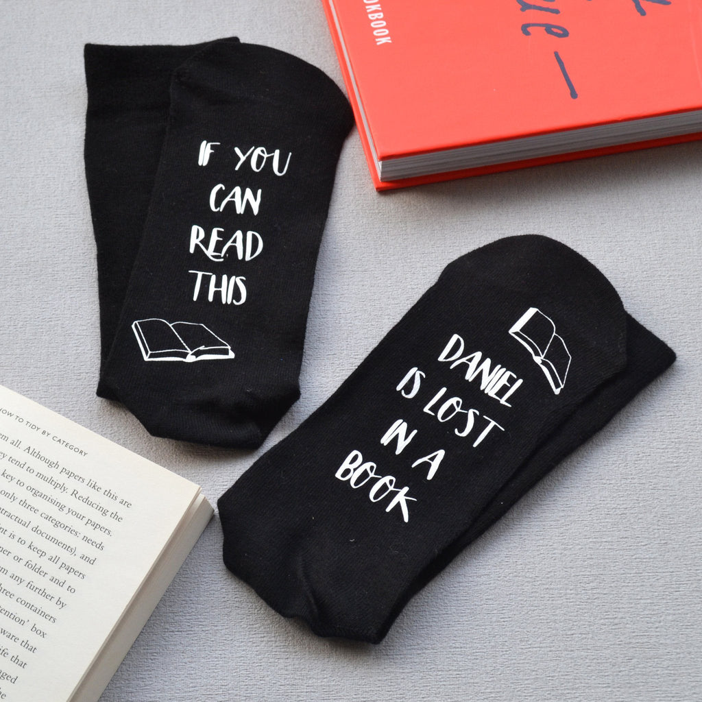 Personalised Gift Socks - Lost In A Book, Socks, - ALPHS