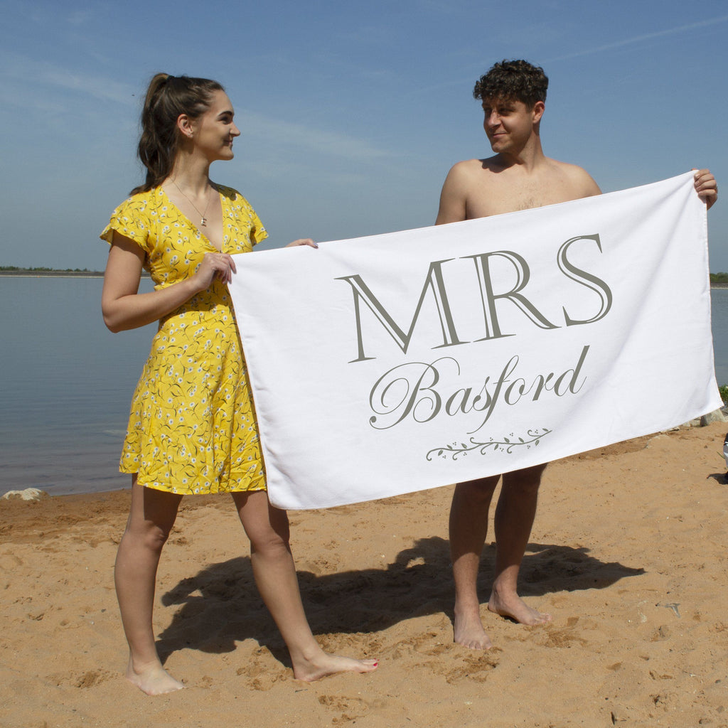 Luxury Mrs Beach Towel, Beach Towel, - ALPHS