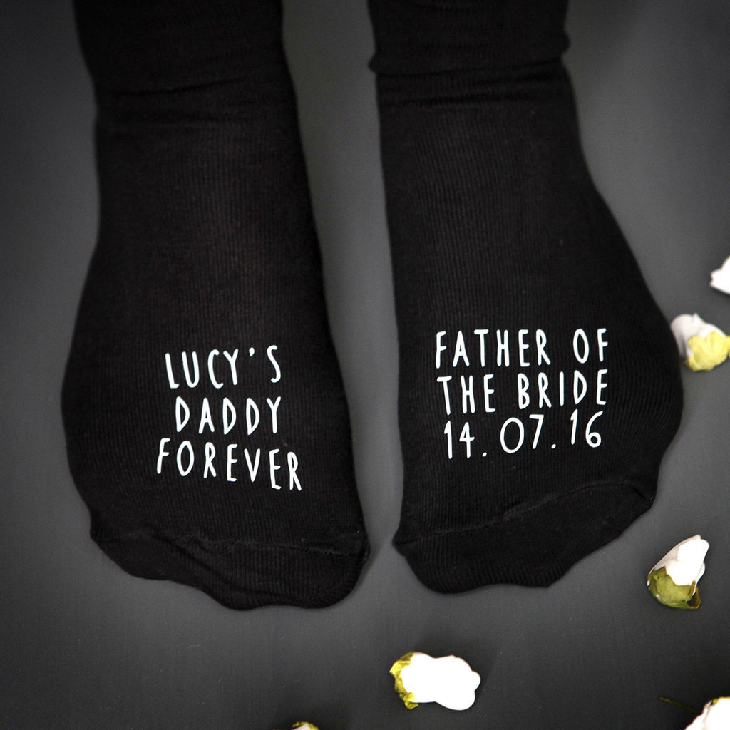 Father Of The Bride Wedding Socks, socks, - ALPHS