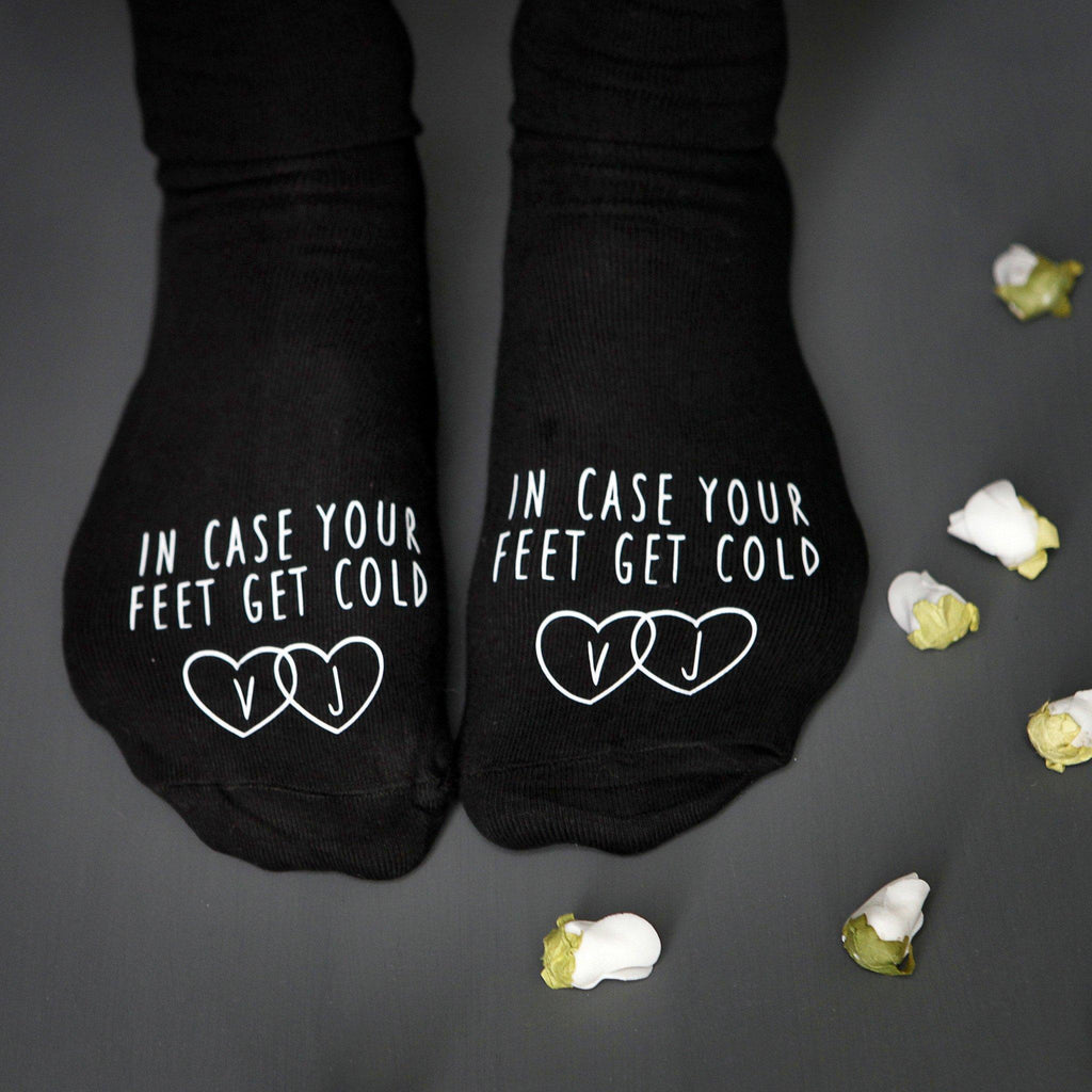 In Case Your Feet Get Cold Wedding Socks, socks, - ALPHS