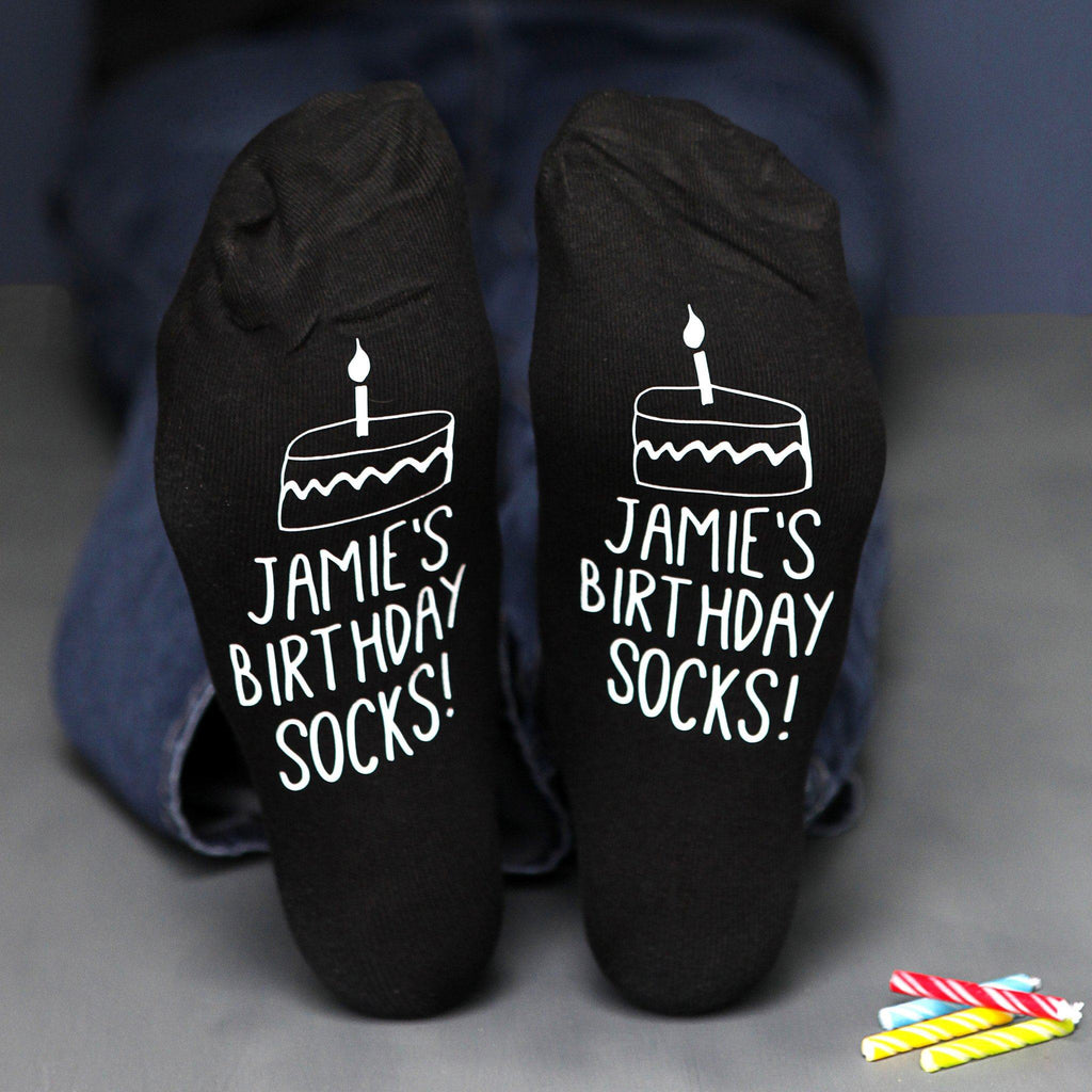 Personalised Cake Design Birthday Socks, Socks, - ALPHS