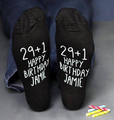 29+1 Personalised Birthday Socks, Socks, - ALPHS