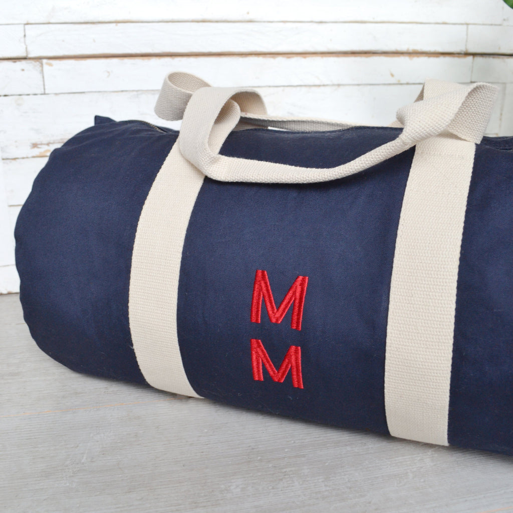 Men's Embroidered Duffle Bag
