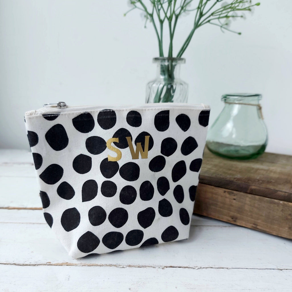 Monogrammed Small Spotty Washbag