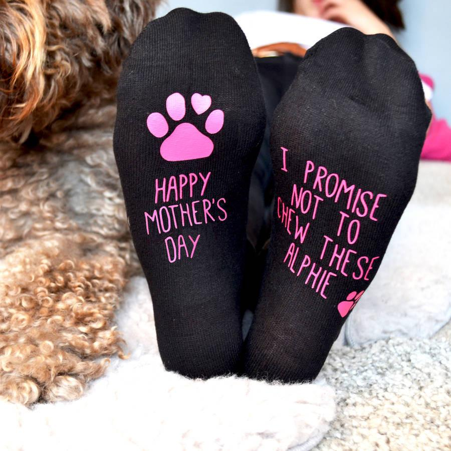 Personalised Mother's Day Gift Socks From The Dog, Socks, - ALPHS
