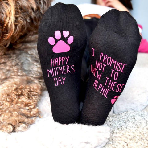 Personalised Mother's Day Gift Socks From The Dog