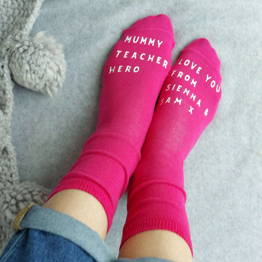 Mummy Teacher Hero Socks