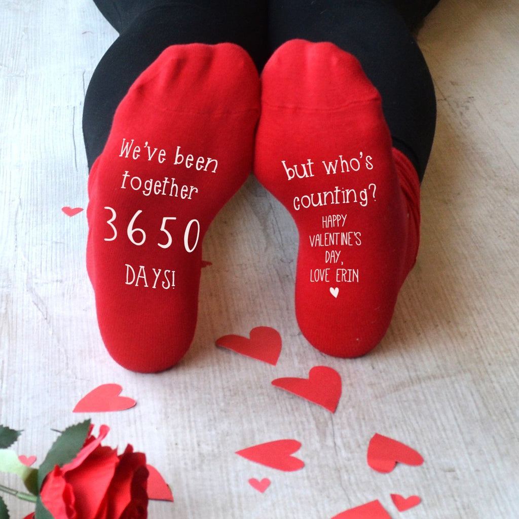 Personalised Not Counting Valentines Socks