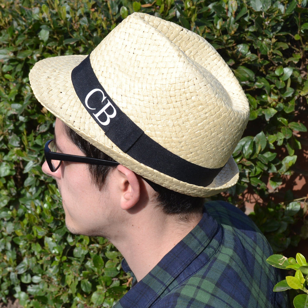 Personalised Monogram Men's Straw Hat