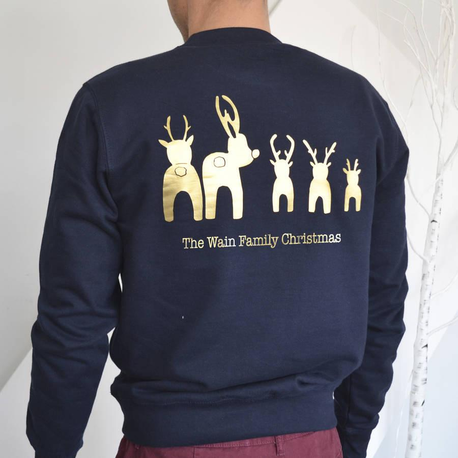 Personalised Reindeer Bottoms Christmas Jumper - ALPHS